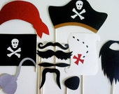 Photo Booth Props - 11 Piece Pirates Paradise Kit