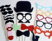 Photo Booth Props - 21 Piece Giant Party Starter