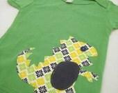 Raaaarr Dino on Grass Green T shirt size 18-24m