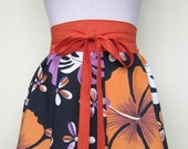 The Perfect A-Line 8 Panel Hawaiian Summer Skirt Made From 100% Cotton