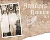 Family Reunion Invitation... Digital Print Yourself