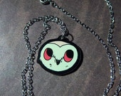 Backyard Owl Necklace - 18 Inch Cable Chain