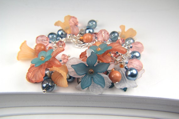 Handmade Lucite Flower Cha Cha Bracelet by the Bracelettree:  A Day at Mono Lake