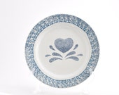Vintage Salad Plate - House of LLoyd -  Blue Heart - set of 2