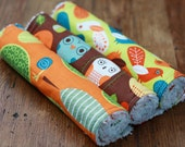 Chenille Burp Cloth Set of 3 -  Baby Boy Critter Community