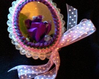Purple Flower egg by Aimee Aiggs