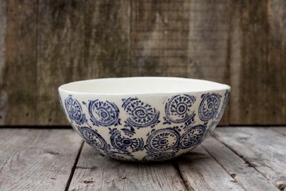 Pour Geneviève - Grand bol à fruit/ Large fruit bowl