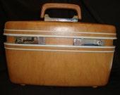 Vintage Samsonite Train Case with Original Key and Tray
