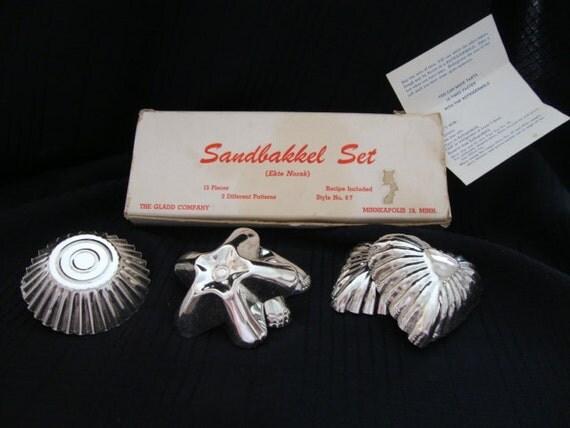 Vintage Sandbakkel Set