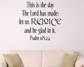 Bible Verse Wall Art,This is the day that the LORD has made
