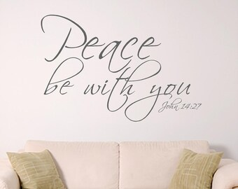 Peace bible verse wall art, John 14:27