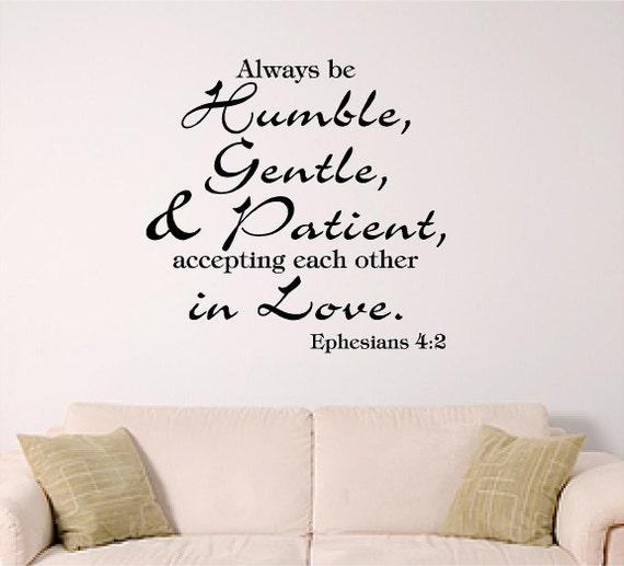 Love Each Other Bible: Bible Verse Wall Art Ephesians 4:2 Accept Each By