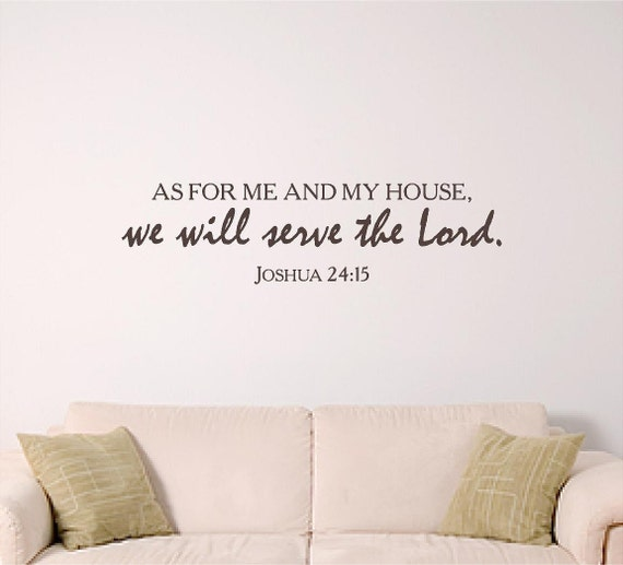 Bible verse wall art, we will serve the Lord