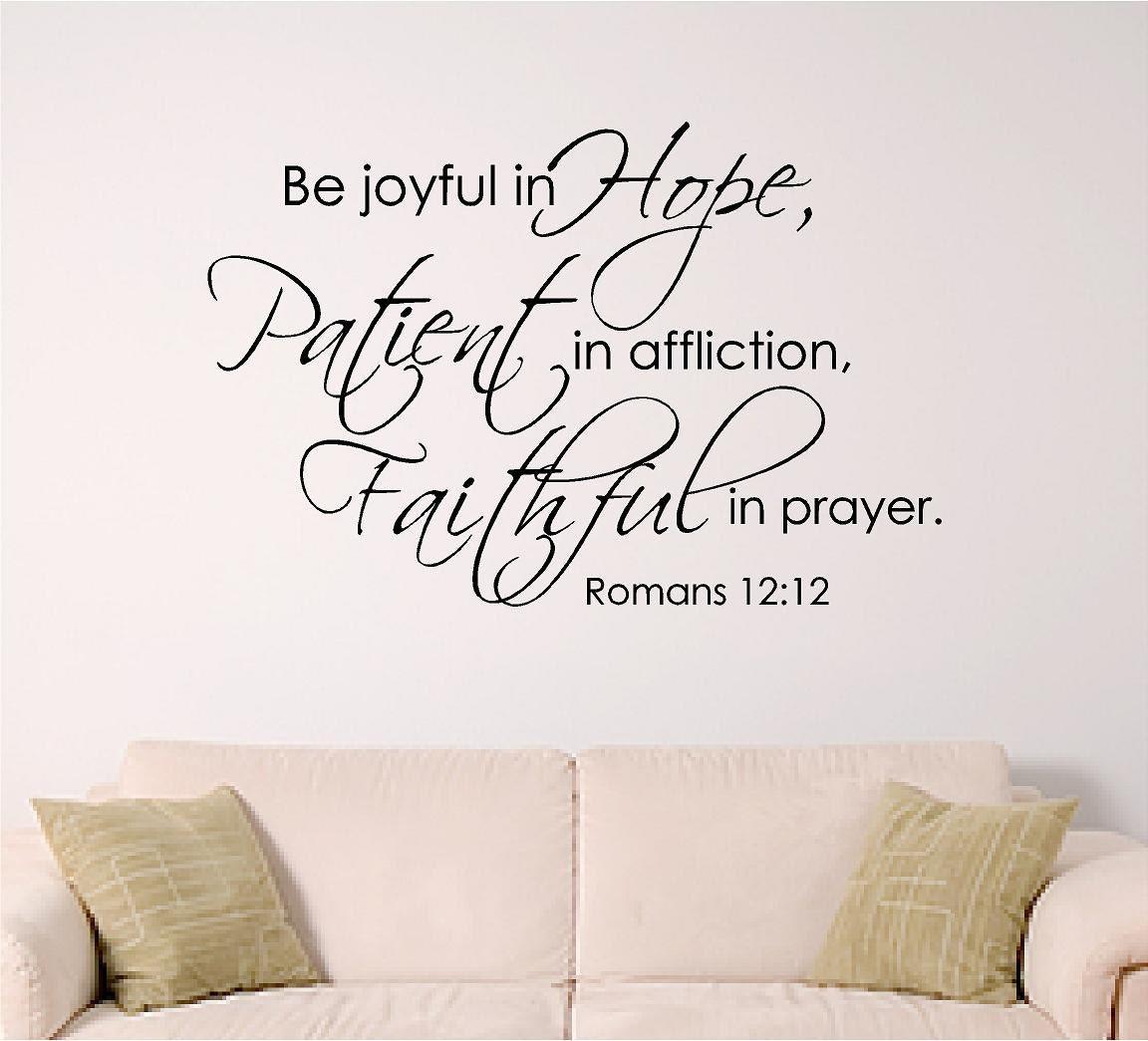 bible verse wall decal Be joyful in hope patient in
