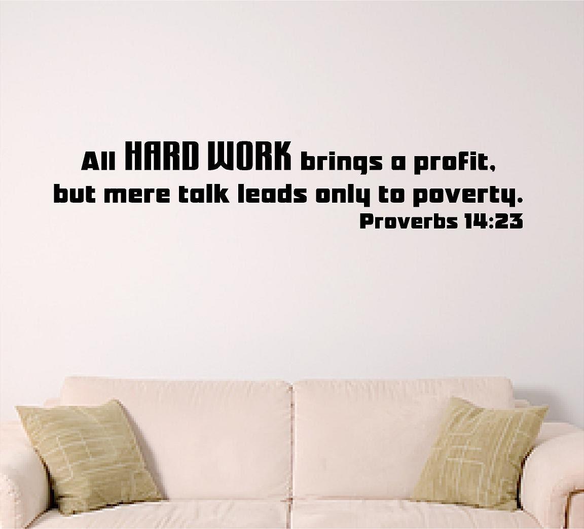 Bible Verse Wall Art Proverbs 14 23