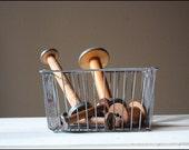 Industrial Wire Basket // Metal Storage