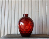Glass Vase // Ruby Red