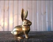 Brass Bunny Rabbit // Solid Brass Paperweight