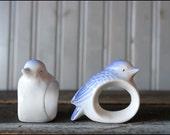 Bluebird Napkin Holders // Ceramic Set Of Five