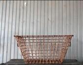 French Oyster Basket // Nautical Decor