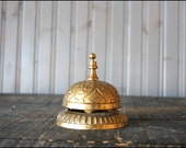Ornate Counter Bell // Solid Brass