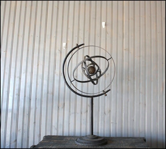 RESERVED // Large Iron Sphere // Garden Art