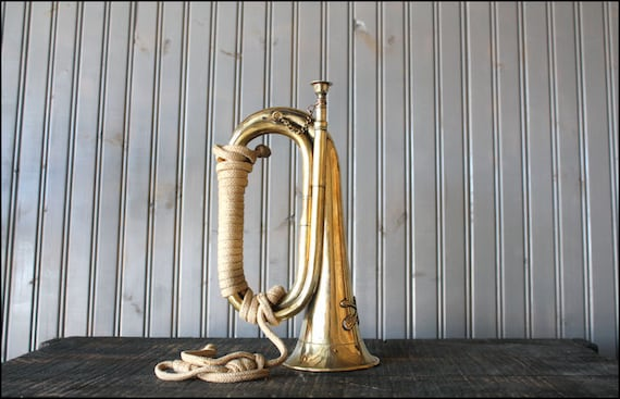 Brass Military Bugle // Seventh Calvary