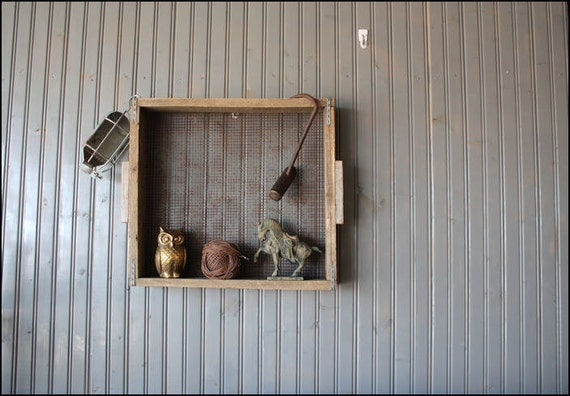 Wood & Wire Sifter // Wall Hanging