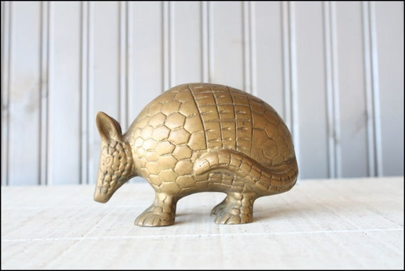 Brass Armadillo // Solid Brass