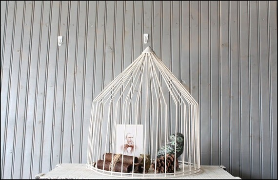Large Wire Turkey Feeder // Upcycled Cloche