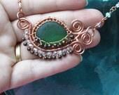 Sea Glass Pendant Necklace -- Mermaid Tears