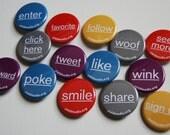 Get Social. 14 button set