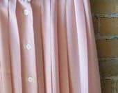 Vintage peach pleated skirt