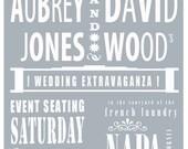 WEDDING Invitation . . . Personalized & Customized . . .Retro Vintage-Look  (PDF file provided)