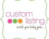 Custom Listing for Megan