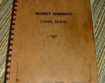 Vintage Friendly Community Cookbook, Colorado 1954, Autographed - Free Shipping