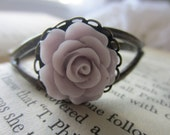 Fairy Purple Rose Bracelet: Gorgeous, Vintage Inspired, Flower, Bangle, Chic, Classy