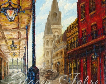 Chartres St. - matted to fit 18x24 frame - PRINT