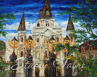 St. Louis Cathedral - matted to fit 18x24 frame - PRINT