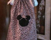 Custom Boutique Pillowcase Dress Disney Minnie Mouse Pink Black White Animal Leopard Print 2T, 3T, 4T, 5, 6, 7