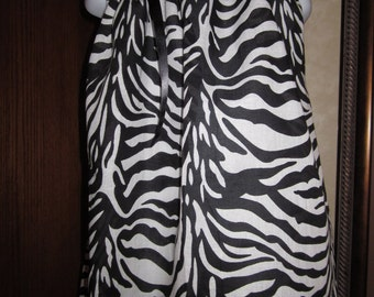 Custom Boutique Pillowcase Dress Black and White Zebra Disney Vacation Mickey/Minnie Silhouette 2T, 3T, 4T, 5, 6, 7