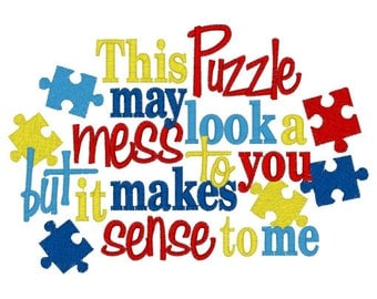 Autism Awareness Puzzle Pieces Embroidery T shirt Sizes 2 4 6 8