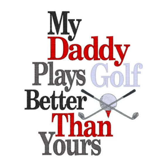Golf Daddy Embroidered Tee Sizes 12 mos, 2 4 6 8 10  Perfect for Father's Day