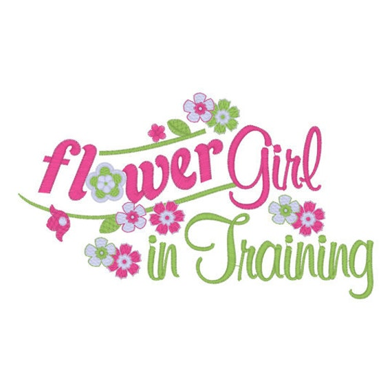 Flower Girl Tee Embroidery T shirt