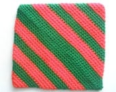 pot holders / hot pads (fun colors bright red green stripes)