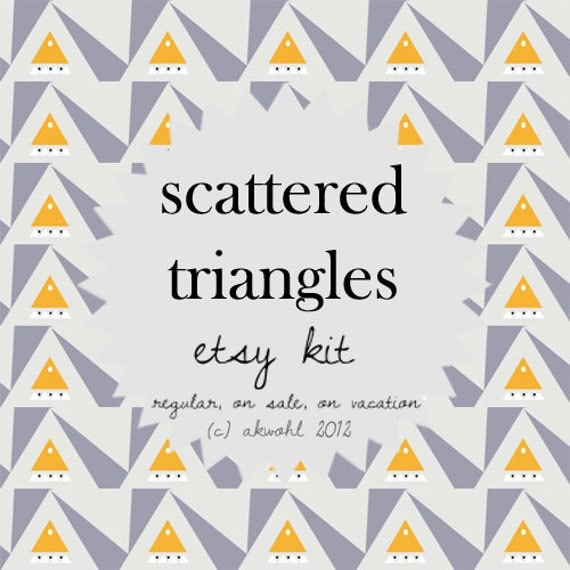 Scattered Triangles - ETSY KIT