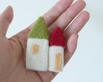 SALE 20% OFF  Petit Mansion Brooch Series - Tiny houses Brooch