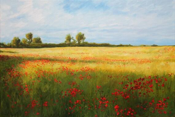 Running Through The Fields - Original Painting
