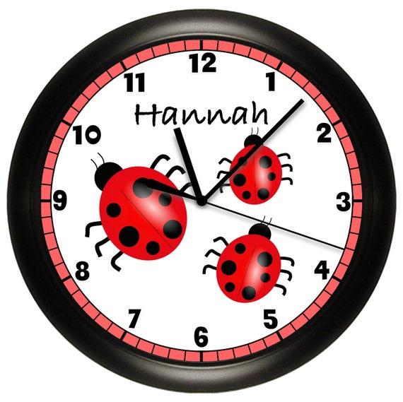 personalized ladybug wall clock children 39 s bedroom