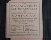 Williamsburg Art of Cookery cookbook 1938 ninth printing